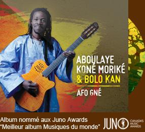 Afo Gné (2011) Editor: Musique Multi-Montreal Juno Awards nomination
